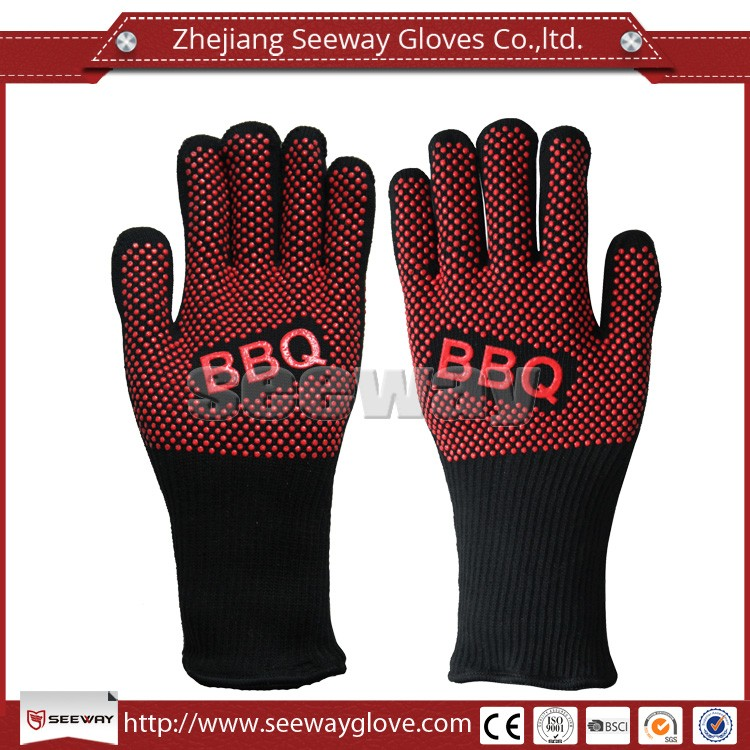 SeeWay Silicone Cotton Heat resistant BBQ Grill Gloves