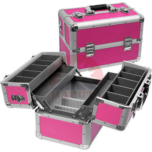 Rose Aluminium Makeup Travel Case